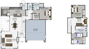 100 1 5 story house floor plans house plans 4 bedroom 2