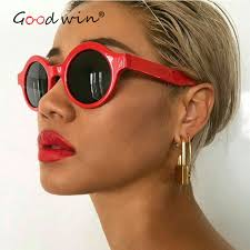 best hair for wide nose good win 2018 brand retro round circle sunglasses vintage red