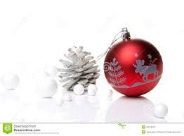 christmas decoration red and silver stock photography image