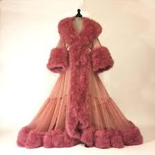 dressing gown boudoir by d lish dominique ultra plush marabou sheer dressing