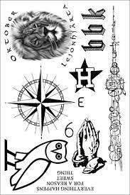 temporary sheet of temporary tattoos