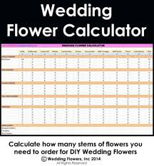 wedding flowers estimate wedding flower calculator