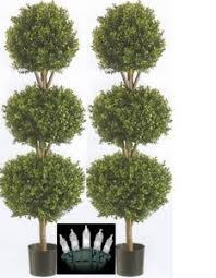 outdoor artificial boxwood trees 56 inch two