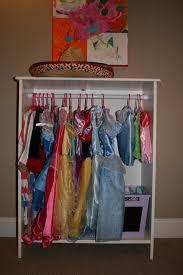 ikea bookshelf and tension rod u003d closet for dress up clothes i u0027m