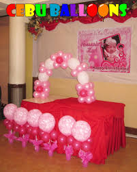 simple christening balloon decoration at sugbahan cebu balloons