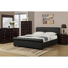 Faux Leather Bed Frames Black Faux Leather Bed Frame