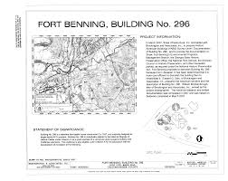 file cover sheet and site plan fort benning building no 296