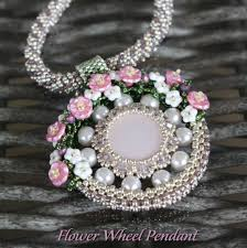 beading flower necklace images Beading pattern 39 flower wheel 39 pendant trinkets beading jpg