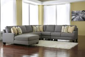 furniture modern leather reclining sectional grey and fiona