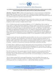 bureau de la coordination des affaires humanitaires la communauté humanitaire en république démocratique du congo