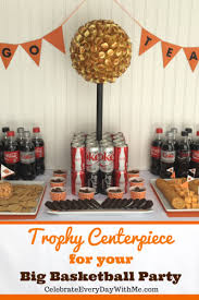 basketball centerpieces diy trophy centerpiece for your big basketball party celebrate