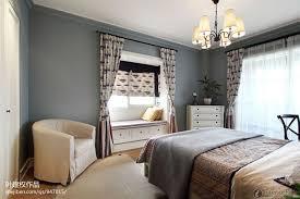 Bay Window Curtain Designs Modern American Style Bedroom Bay Window With Curtain Design And