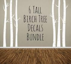 Nursery Tree Wall Decal Nursery Tree Wall Decal Birch Trees Bundle Of 6 Removable Vinyl