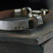 mens personalized bracelet men s jewelry leather cuff bracelet custom sted