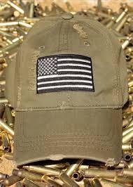 distressed od green american flag hat