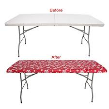 tablecloth for 6 foot folding table amazon com party tablecloth 6 foot folding table fitted table