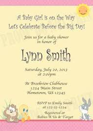 looney tunes baby shower baby looney tunes baby shower invitations inspiring online baby