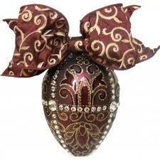 egg ornament faberge trellis egg handblown glass ornament