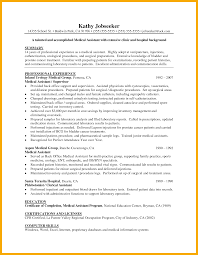 resume objective for medical assistant resume for your job