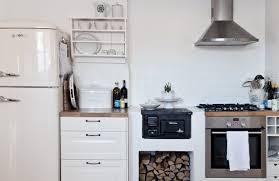cabinets u0026 drawer scandinavian kitchen with small wood burning