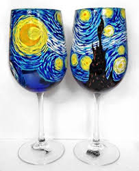 custom painted wine glasses wine never looked so