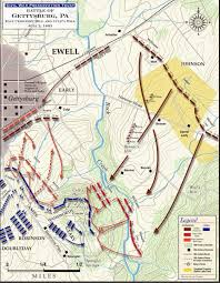 Map Of Williamsport Pa Gettysburg East Cemetery And Culp U0027s Hill July 2 1863 Civil