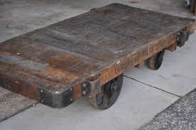 carver junk company railroad cart reveal our new coffee table
