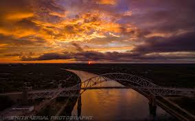 cape cod canal post storm sunset via drone by smitht2ncc1701 on