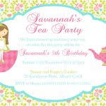 free printable tea party invitation templates gorgeous free