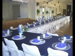 mariage bleu et blanc salle mariage bleu marine et blanche