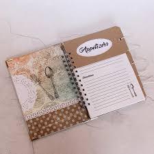cahier de cuisine vierge design vintage blanc recette livre cahier de recette