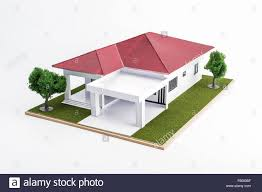 model of architecture the one storey house stock photo royalty