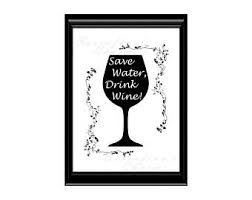 wine quote print etsy