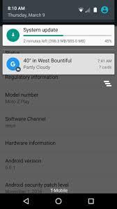 moto z play android update tracker update nougat ota arriving