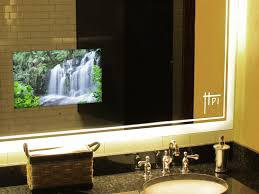 beautiful design ideas mirror tv bathroom in harpsounds co with