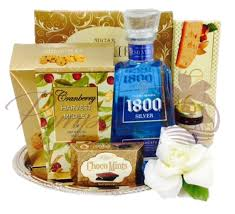 1800 gift baskets something blue tequila gift basket by pompei baskets
