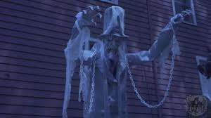 lil skelly bones spirit halloween 7ft towering chained ghost spirit halloween youtube