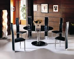 beautiful dining room design with collaboration a iron and glass