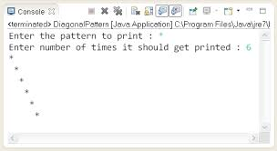 java pattern programs for class 10 pattern problems write a java program to print same character on