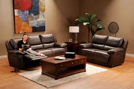 Black Leather Reclining Loveseat Delray Brown Leather Reclining Loveseat