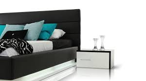 Platform Bed With Lights Infinity Contemporary Black Platform Bed With Lights