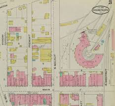 Champaign Illinois Map by Champaign History