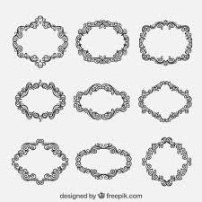variety of ornamental frames vector premium
