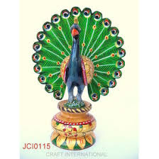 home decor u0026 handicrafts peacock painted 6 inches online