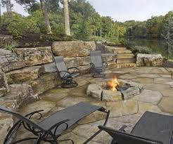 Flagstone Firepit Pits Earthworks