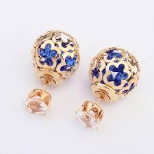 sided stud earrings 26 best side stud earrings images on stud