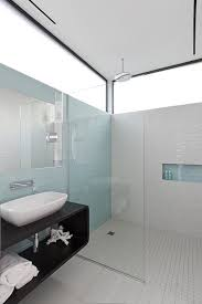houston sea glass tiles bathroom modern with white vessel sinks bath