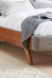 amelie upholstered bed frame nutmeg bedroom furniture forty winks
