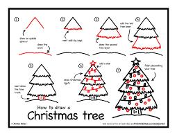 draw a christmas tree drawing drawing art u0026 skethes