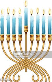 hanukka candles hanukkah menorah with blue candles vector getty images